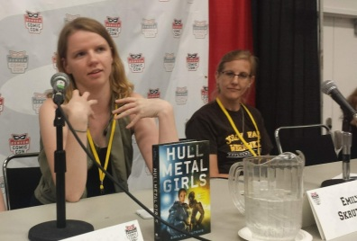 Authors Emily Skrutskie and Carrie Vaughn.